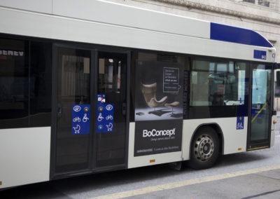impression numérique adhésif Bus